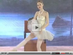 Very Cute Justine Joli aka Swan as Ballerina
