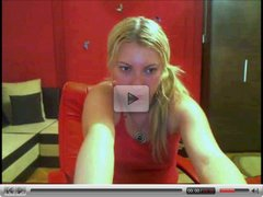 Blonde Does a Couple of Nice Teases on Cam