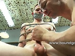 Brenn fucks Cole hard in bondage to teach him a lesson