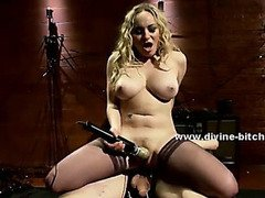 Kinky dirty mistress plays with her man slave in dominatrix sex videoclips