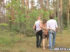 hardcore group outdoor penetrating