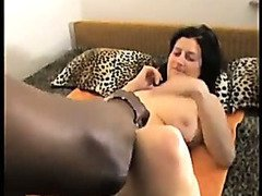 Black man massages and bangs amateur wife