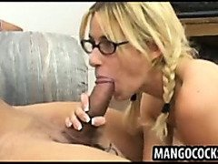 Cute blond in big dick threesome