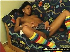 Cute Ebony Teen Solo just for me
