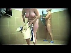 Hidden camera shows ladies showering