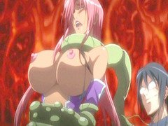 Bigboobs hentai girl brutally fucked by monsters
