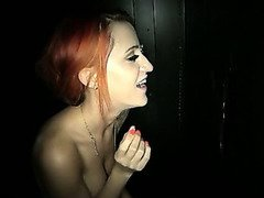 Gloryhole Swallow Melissa First Time