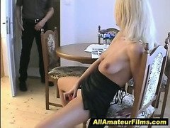 Sexy hot blonde MILF is so hot