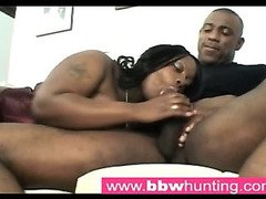 Hot ebony BBW teasing a big ass lover