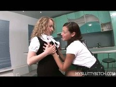 Hard Lesbian Sex After School