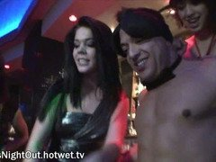 Brunette Fucks Stripper During Girls Night Out