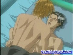Blonde anime gay hot fucking in bed