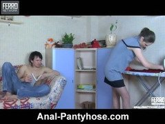 Colette&Rolf nasty anal pantyhose video