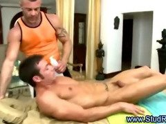 Cheeky gay masseur checks out straight client