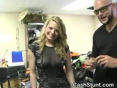 Blonde Amateur Flashing Tits And Ass In A Store