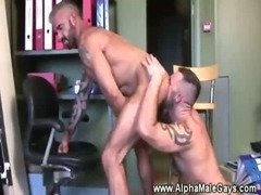 Tattoed muscle loves dick sucking and anal