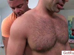 Hairy chested guy getting examined
