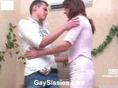 Frank&Lewis femaleclothed sissy on video