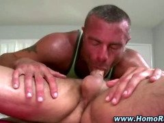 Turned straight guy blowjob and rimming