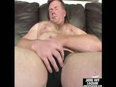 Mature guy loves to play with his cock
