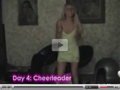 Long Video of Naughty blonde cheerleader fucking at home