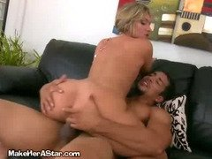 Blonde Chokes As Shes Fucked From The Rear