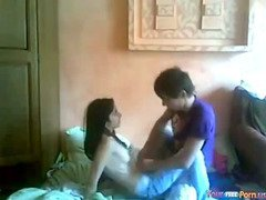 Cute Teen Fucks Her BF On The Floor