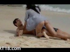 Extremely sweet lovers sex on the beach