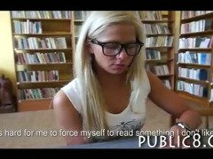 Schoolgirl amateur teen anal sex in the public library