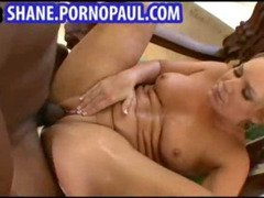 Sexy blonde fucked by a huge black dick