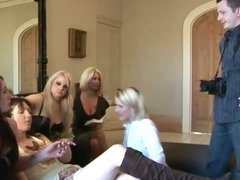 Rich CFNM milfs in for some cock