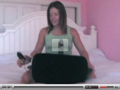 Young Girl Play With Her Sybian