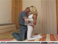 Sexy Blond fucks with her Hubby