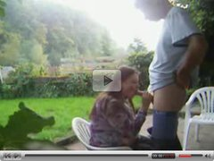 blowjob in the garden and facial