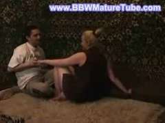 Russian mature mother making love