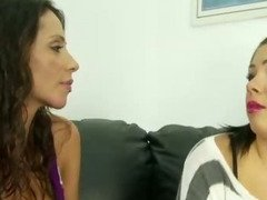 Mother showing amateur daughter how to suck cock
