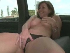 Naughty girl fingers her pink pussy