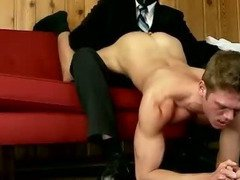 Young gay guy spanked and punlished by masked man