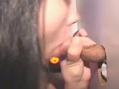 Dirty Brunette Amateur Sucking Dick At Glory Hole.