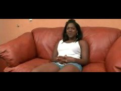 Ebony Pussy Creampie On Couch