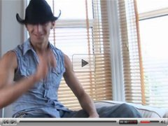 British slut Rebecca gets fucked by a cowboy