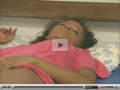 cute black girl double penetrated by two men..