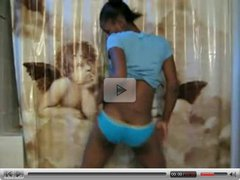 Black Girl Dances in the Bathroom