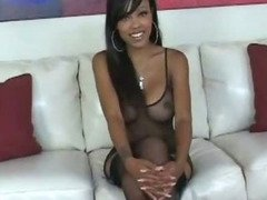 Pretty Ebony Suckng And Fucked in Firm Pussy