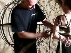 video soumise sandy libertine bdsm seance sm bondage hogtied sexy