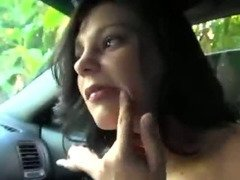 Slutty Brunette Sucks Cock For Money