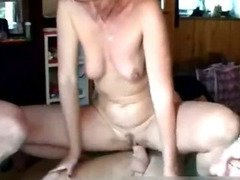 Mom pleasing four cocks at the same time