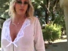 Big Titty Milf Masturbating With Dildo