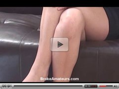 Super cute teen amateur girl first casting video