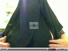 Hijab Woman showing her big tits
